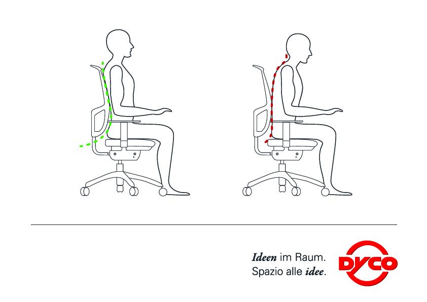 Wie sitzt man optimal am Schreibtisch?